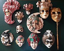 Export: Arte Veneziana Maschere Porcellana Made in Italy